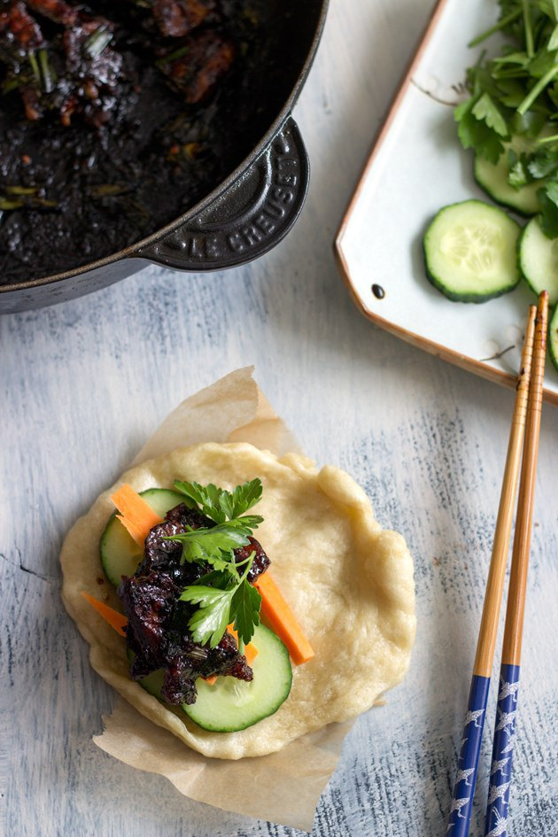 gua bao with twice cooked pork belly